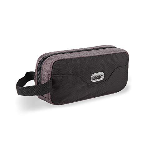 GOX Premium Toiletry Bag, Dopp Kit Case For Travel, Multifunction Cosmetics Organizer(Black/Grey)