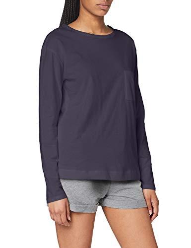 Triumph Mix & Match LSL Top 02 Camiseta de Pijama, Gris, 46 para Mujer