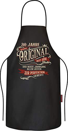 RAHMENLOS Grillschürze Kochschürze Küchenschürze als Geschenk zum 30. Geburtstag Baumwolle