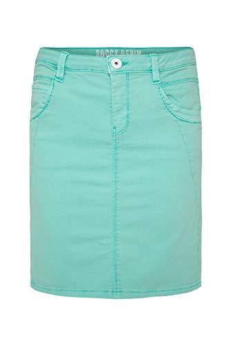SOCCX Damen Coloured Denim Skirt RO:SY