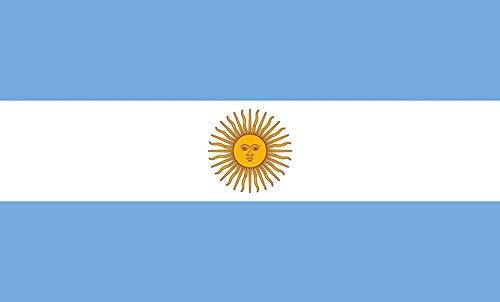 Argentinien Flagge Argentinische Fußballweltmeisterschaft Große gedruckte Nationalflagge Sportereignis Festival Feier 5Ft X 3Ft