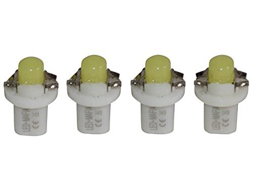 LED-Mafia Lot de 4 éclairages de comptoirs COB Blanc/bleu/rouge