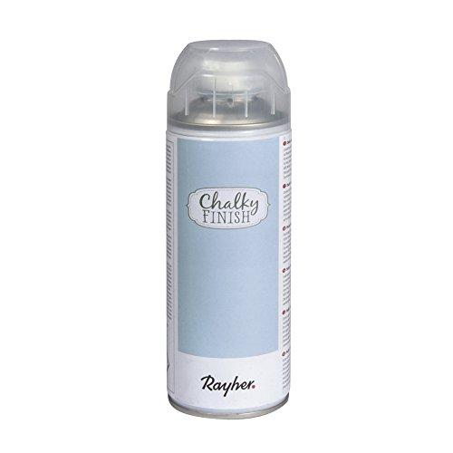 RAYHER Chalky Finish Spray 400ml, Kreidefarbe für eine Fläche von circa 1,5 – 2m², Blaugrau