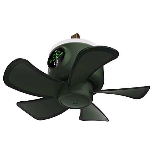 Portable Camping Fan with led Lantern for Tent Ceiling Fan USB Powered Battery Operated Rechargeable