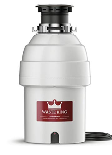 Waste King Legend Series 1 HP Continuous Feed Garbage Disposal with Power Cord  L8000