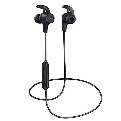 AUKEY Auricolari Bluetooth Sport Bassi Potenziati, Cuffie Bluetooth Senza Fili Sport, Impermeabile a...