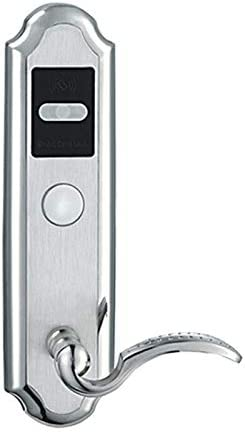 Color : Right Pull Easy Installation Smart Door Lock with Key in Home Hotel Apartment Office Latch and Electronic Lock Stainless Steel
