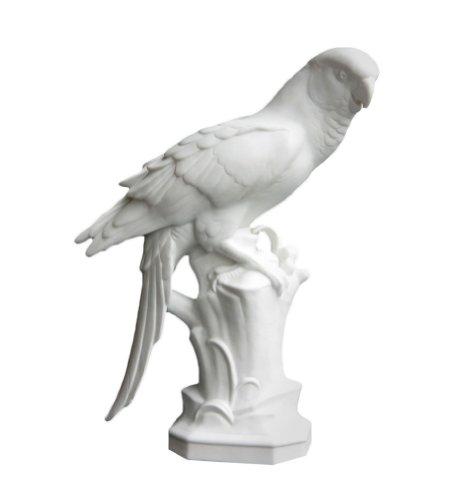 Reichenbach - Porzellanfigur - Figur - Papagei - Gelbbrustara - Porzellan - Bisquitporzellan - Maße (BxH): 27 x 18 cm