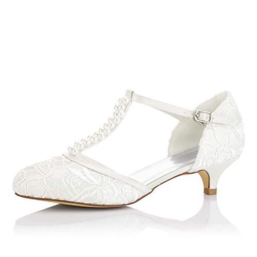 JIA JIA Zapatos de Novia de Las Mujeres 01129 Cerrado Dedo del...