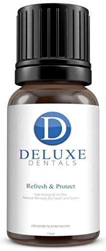 Deluxe Dentals Fast Acting Pure Botanical Oils Remedy for Teeth and Gums