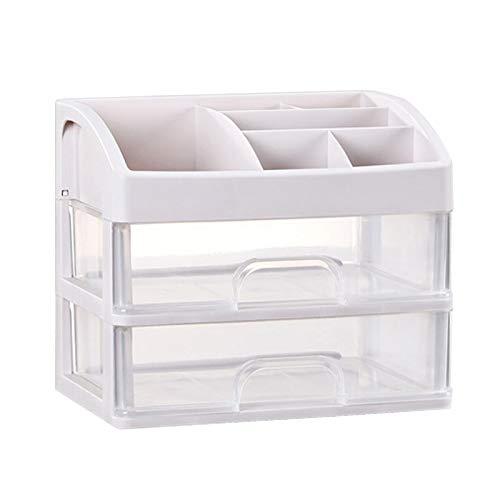 Sunydog Caja de Almacenamiento plástica del Organizador del Maquillaje cosmético con la Caja de Almacenamiento diversa de Escritorio del cajón
