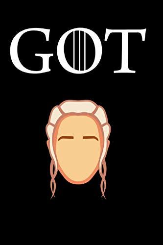 GOT: Game of Thrones I Daenerys Targaryen I Carnet de notes I journal intime I Le Trone de fer I 100 pages Lignées I 7x9 po