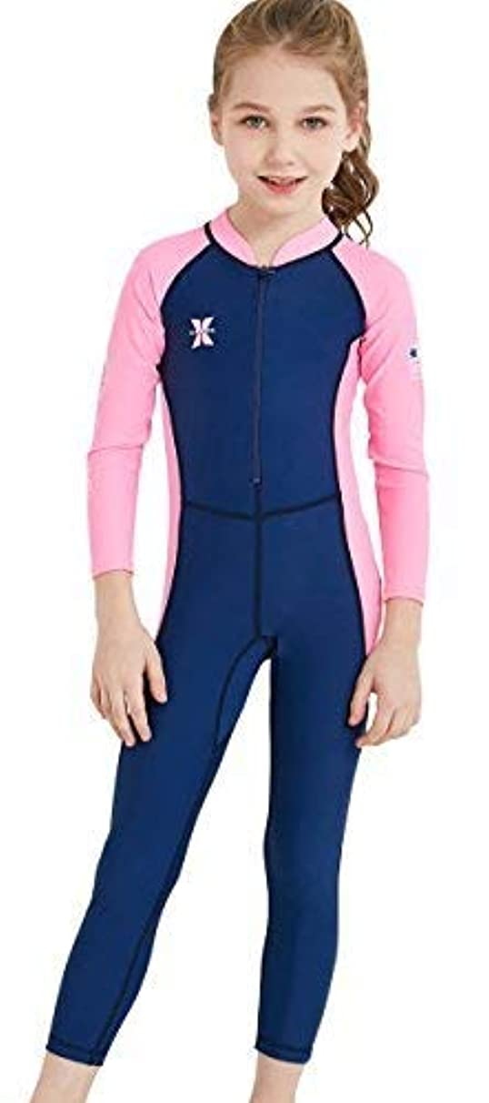 DIVE & SAIL Kids One Piece Long Sleeve Swimsuit Sun Protection Sunsuit