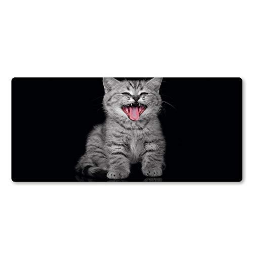 YANGFAN Alfombrilla de ratón Personalizada, práctica y Her Creativo y Lindo Cara Divertida Gato Alfombrilla de ratón Almohadilla Grande pc Juego computadora Almohadilla dominante Jugador Animal a