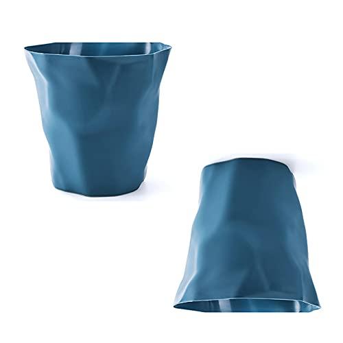 Oukerde 1/2 pcs Bote de Basura de plástico,Cubos Basura Multifuncional Creativo,Cesto de Basura para baños,cocinas y Salas de Estar,papeleras,9L / 12L de Gran Capacidad
