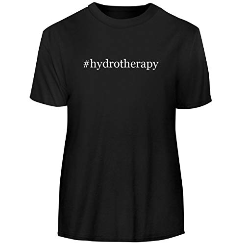 One Legging it Around #Hydrotherapy - Hashtag Men's Funny Soft Adult Tee T-Shirt, Black, Medium
