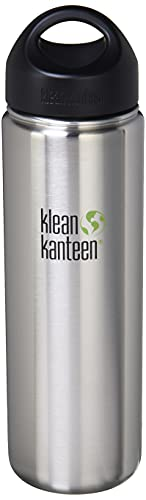 Klean Kanteen Wide Gourde avec bouchon Wide Loop Cap brossé en acier inoxydable 1900 ml
