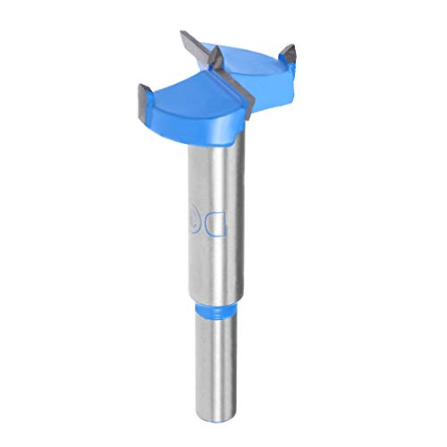 sourcingmap Forstner Drill Bits 32mm, Tungsten Carbide Wood Hole Saw Auger Opener, Woodworking Hinge Hole Drilling Boring Bit Cutter (Blue, Gray)
