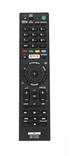 VINABTY RMT-TX100D RMT-TX102D ErsatzFernbedienung für Sony TV KD-55X9005C KD-55X9305C KDL-55W755C KDL-55W756C KDL-43W807C KDL-43W808C KDL-65W859C KDL-65W858C KD-55X850xC KD-55X8501C KD-55X8505C Remote