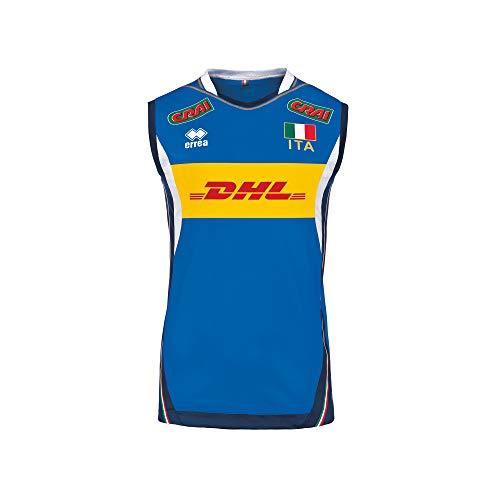 Erreà Herren-T-Shirt mit Italienischer Aufschrift: Nazionale Italia Volley S Azzurro - Blu