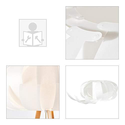 BRILLIANT Addi - Lámpara de pie (150 cm, bambú y plástico, madera clara), color blanco