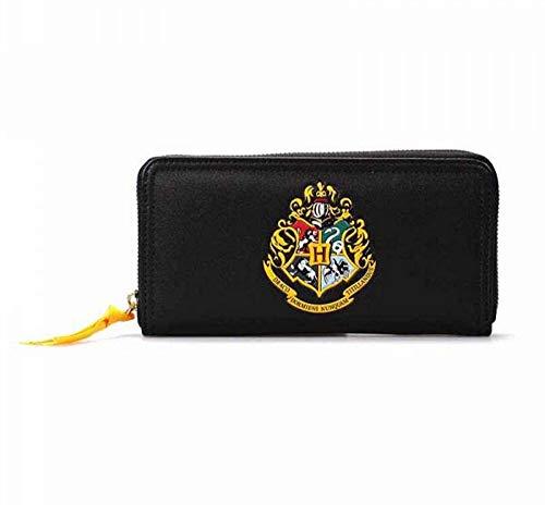 Harry Potter - Portafoglio in similpelle nera con logo Hogwarts