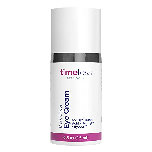 "Timeless Skin Care ""Dark Circle Eye Cream"" with Hyaluronic Acid. Hydrate,Lighten & Firm.15 ml"
