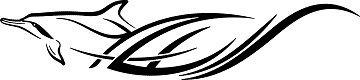 XL 2er SPARSET Autoaufkleber HAWAII BEACH TRIBAL Delfine H51-2x75cm, Decal Sticker für die Seiten oder Heckscheibe, Ranke, Ornament, Schnörkel fürs Auto, Car Dekore Decals, Autotattoos Tuning-Foliensticker in 32 Farben wählbar