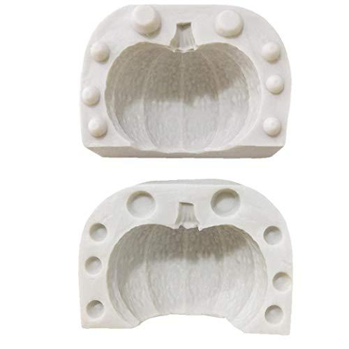 3D Calabaza Molde del Silicón Mini Calabaza para El Caramelo del Molde,...