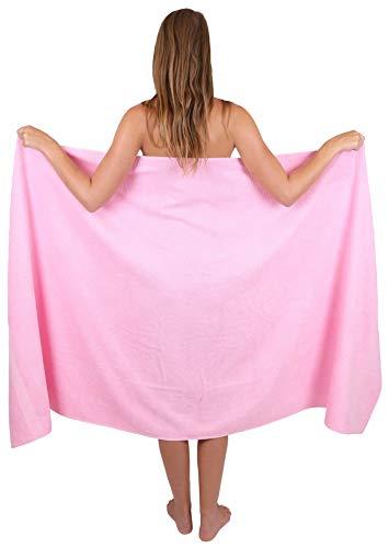 Betz Serviette de Bain XXL Palermo 100% Coton 100x200 cm Couleur rosé