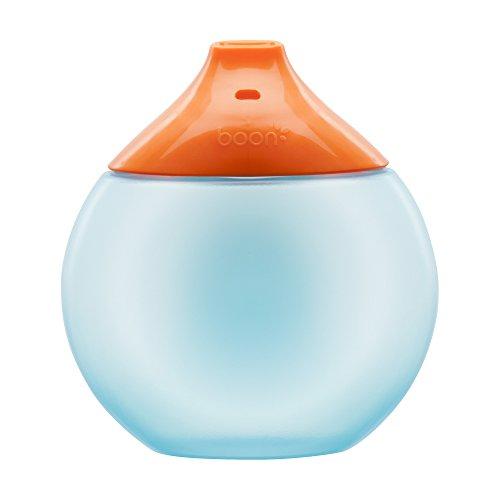TOMY BOON - Tasse d'Apprentissage pour Bébé FLUID, Anti-fuites, 300mL, Tasse pour Enfant Sans BPA, Orange et Bleue, 300mL, Adaptée aux Enfants dès 9 Mois