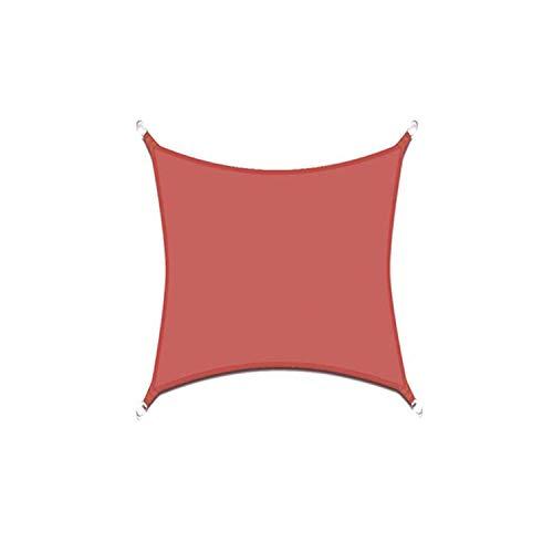 DIANPU Velas De Sombra para Patio, Cuadradas Impermeables Protección Solar Y Protección UV Velas De Sombra para Patio Exterior Y Jardín (3.6m*3.6m,Rojo óxido)