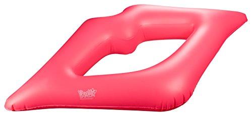 \'Piscina Gonfiabile di Float Lips in Pink–Anello Gonfiabile/Ciambella a Forma di Labbra per Die Maximal Coole Rilassante in Piscina. Kiss The Water, Girl.