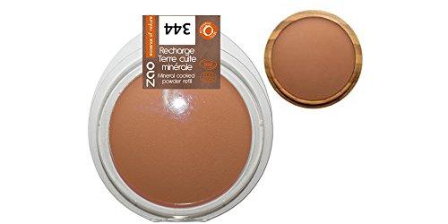 Zao - Recharge Terre Cuite Minérale Bio / 9 Gr - Couleur : Chocolat 344