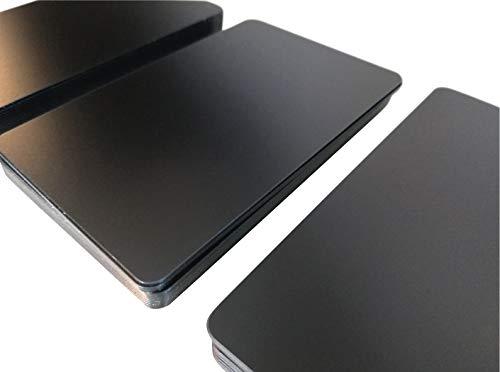 Premium Plastikkarten | PVC Karten Schwarz Matt | 5-500 Stück, Rohlinge | blanko, Kartendrucker, NEU! (25)