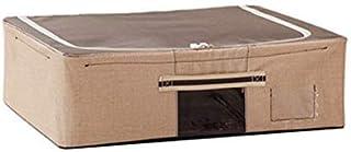 ZLJ Organisateur de Rangement sous Le lit Sac de Rangement pour vêtements Tissu Oxford Organisation de Placard Lavable Ant...