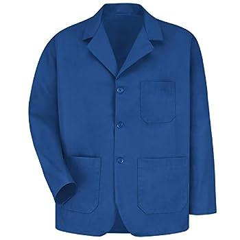 Red Kap Men s Lapel Counter Coat Royal Blue Small