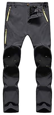 Singbring Women's Outdoor Warm Windproof Waterproof Snow Hiking Ski Pants W33-34 X-Large Gray(05F/L31/XL)