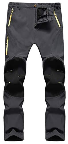 Singbring Women's Winter Outdoor Fleece Windproof Waterproof Ski Snow Hiking Pants W28-W30 Medium Gray(05F/L31/M)