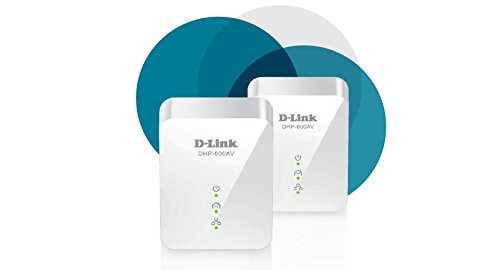D-Link Powerline Ethernet Adapter Starter Kit WiFi Gigabit AV2 Up to 1000Mbps MIMO Wireless Internet Network Plug in (DHP-601AV)