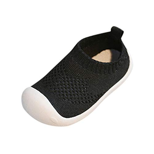 VECDY Zapatillas Bebe Niño, Zapatos Bebe Niña Verano Bebés Niños, Color Caramelo, Malla, Deporte, Correr, Zapatos Casuales Moda Suave Zapatos Antideslizantes Primeros Zapatos (Negro,23)