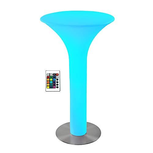 wuuhoo® I LED Stehtisch Cocktailtisch Cosmo mit 16 Farben I Farbwechsel mit Fernbedienung I Witterungsbeständig für Innen und Außen I Gartendeko und Eventdekoration I 60 x 60 x 105 cm