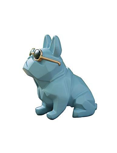 Unique Geometric Dog Doggy with Sunglasses Figurine, Animal Statues, Home Garden Bar Décor Desktop Ornament