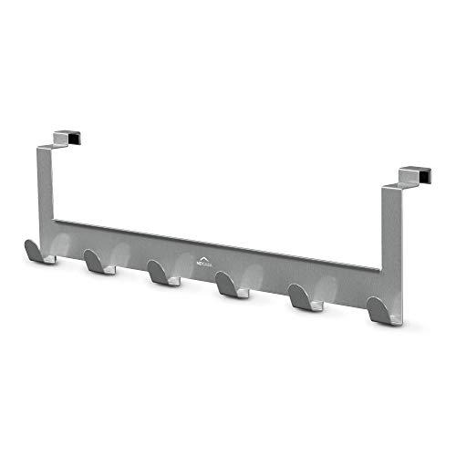 MDCASA Türgarderobe Edelstahl Rückseite - mit Anti Fingerabdruck Beschichtung - Hakenleiste Tür - Handtuchhalter Bad - Türhakenleiste