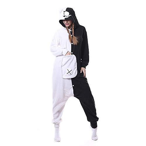 SalmophC Unisex Adult Cartoon Animal Pajamas Onesie Costumes Monokuma Bear Pajamas Anime Jumpsuit Danganronpa Cosplay Costume
