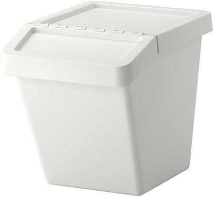 Ikea Sortera Tri Des Dechets Bac Avec Couvercle Blanc 60 L Amazon Fr Cuisine Maison