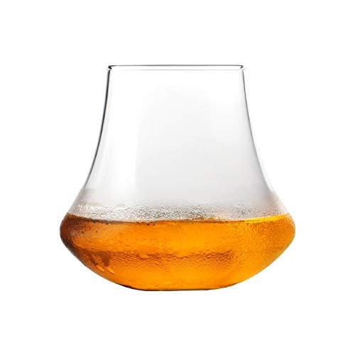 Home+ Verres à Whisky, Tulip Large Bord Whisky Tumbler Verres de Whisky Chivas Cup Boire Spiritueux Alcool Verre à vin de dégustation (Color : 2 Pcs, Size : 340ml)