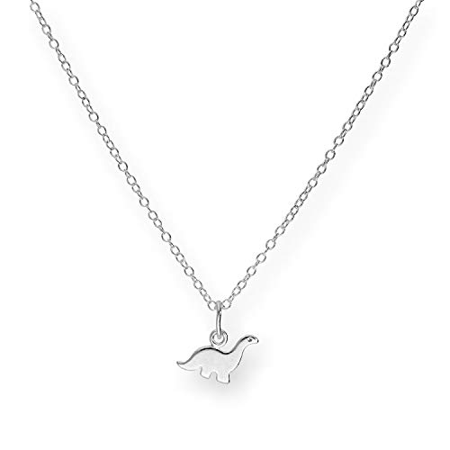Small Sterling Silver 18 Inch Dinosaur Necklace