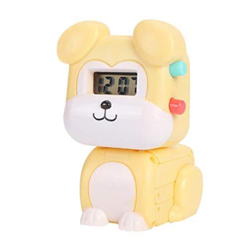 NUOBESTY Reloj de Deformación Reloj Electrónico para Niños Reloj con Forma de Mascota Reloj Digital Regalo de Juguete para Niños Niños Estudiantes