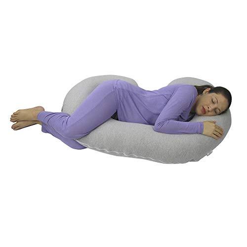 Travesseiro para Gestante BabyKinha Cinza Mescla